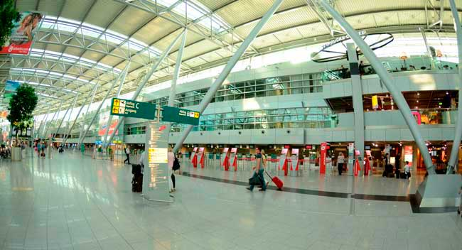 Düsseldorf Airport is located 7 km (4 miles) from city centre.