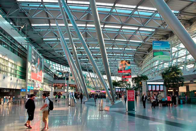 Dusseldorf Airport is about 10 km from the city centre.